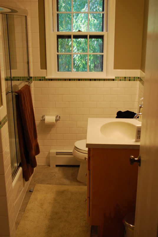 G&L designed this hall bathroom.