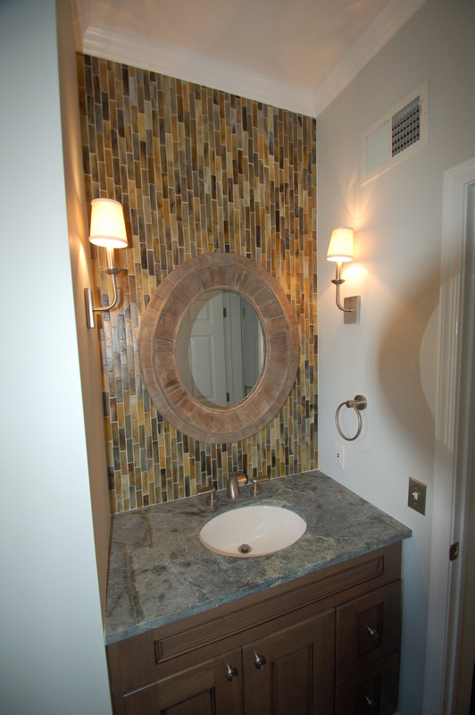 A well planned powder room renovation project.