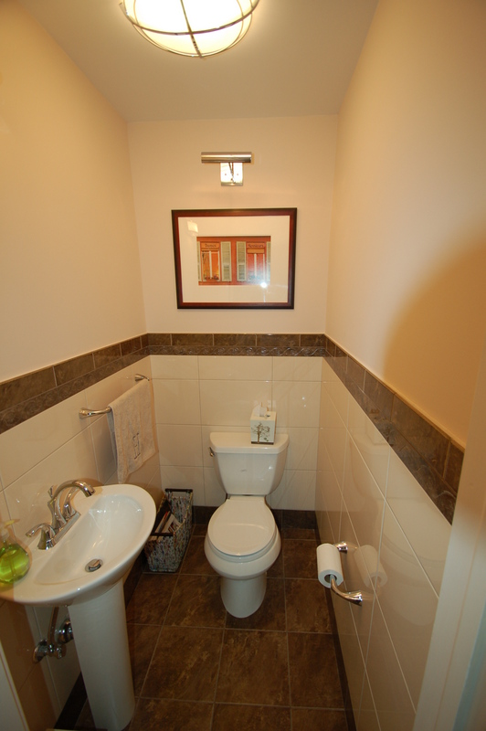 A half bathroom renovation by G&L and Sons.